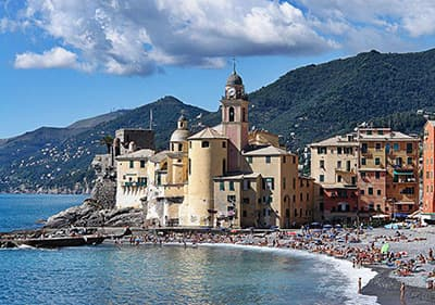 View of Camogli in Liguria