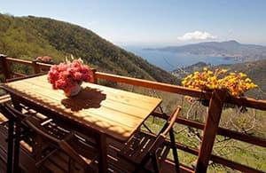 Maison vacances avec chien et pour toute la famille dans un endroit tranquille en Ligurie