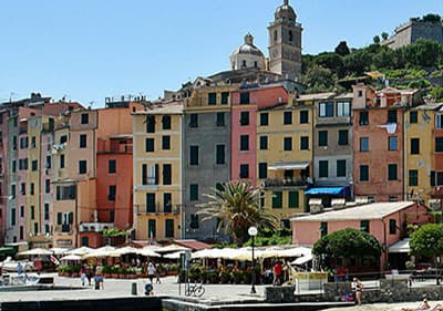 View of Portovenere in Liguria, Italy