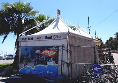 Point de location de vélos à San Remo