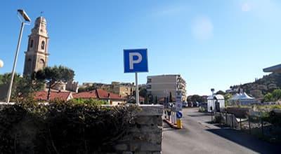 Road to reach Nolo Bici in San Lorenzo al Mare when coming from Imperia