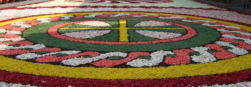 célébrations ligures - Infiorata del Corpus Domini à Diano Marina