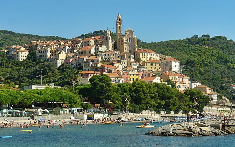 View of wonderful holiday resort Cervo