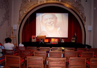 La chambre de l'art cinématographique à Villa Grock, Ligurie