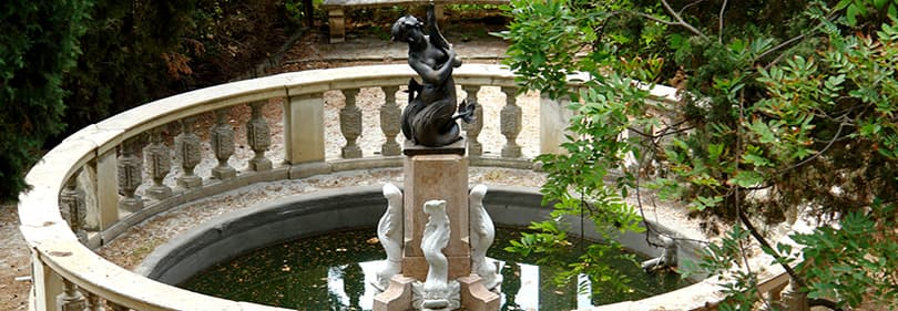 A fountain in the Hanbury Gardens