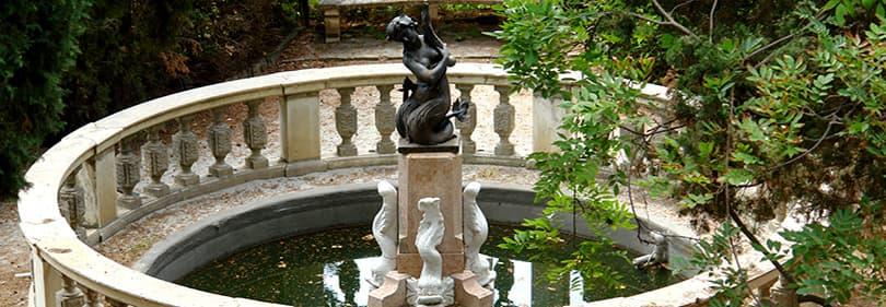 A fountain in the Hanbury Gardens