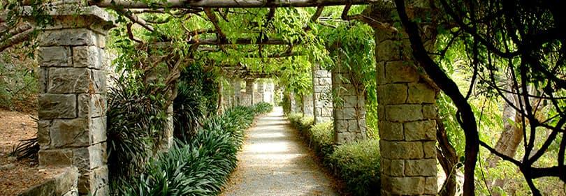 Un chemin pour une belle promenade dans Hanbury Gardens