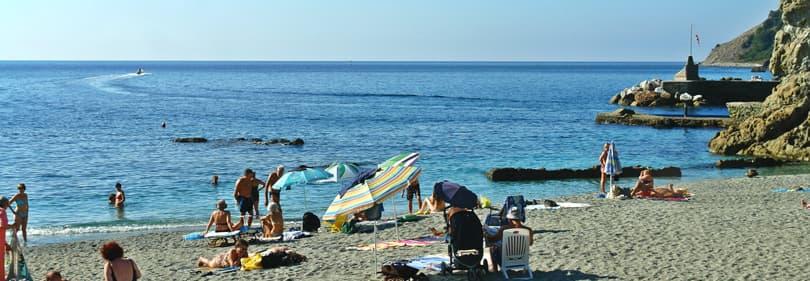 Plage dans la province de La Spezia, Ligurie