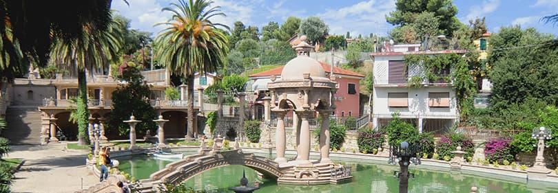 Parc von Villa Grock in Ligurien