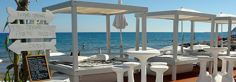 Restaurant am Meer in Diano Marina in Ligurien