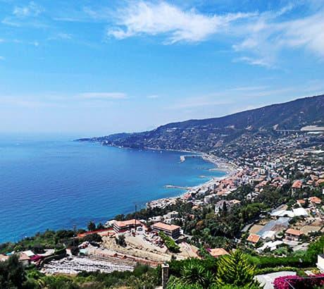 Vue de Sanremo en Ligurie