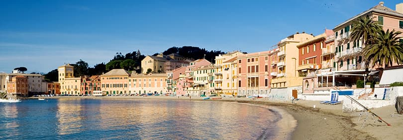 Plage à Sestri Levante, Ligurie, Italie