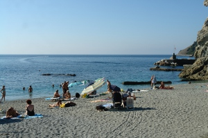 Spiaggia libera Monterosso plages libres à Ligurie