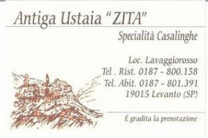 Antugua Ustaia Zita restaurants à Ligurie