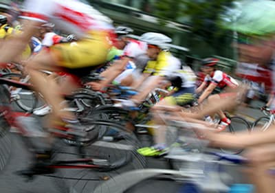 Course de vélo en Ligurie