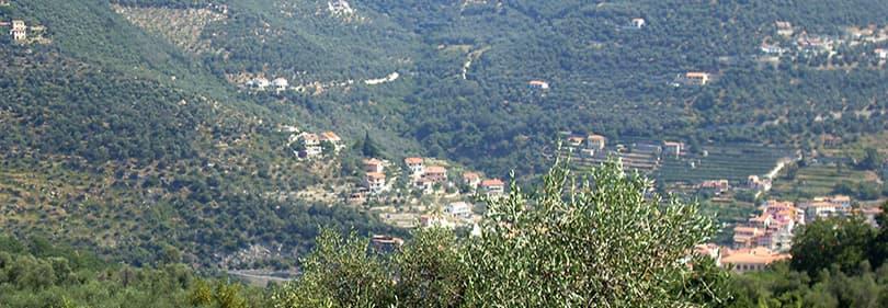 Vue de Garessio en Ligurie