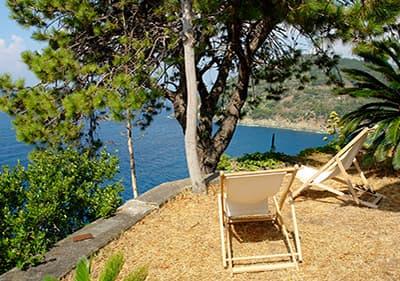 Vue sur la mer de Bonassola en Ligurie