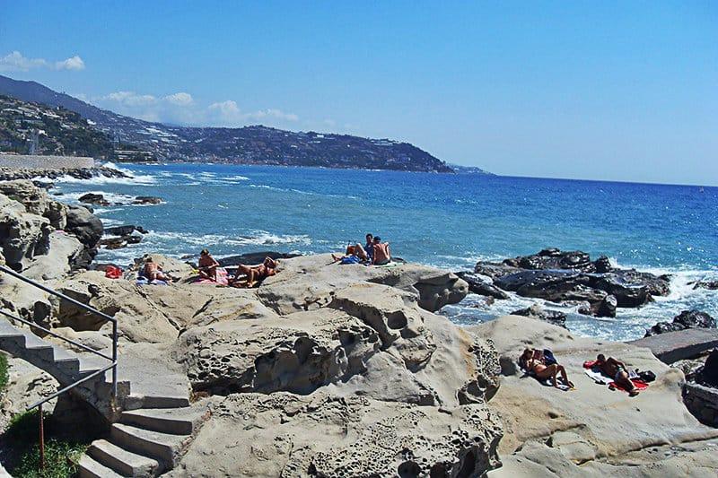 Une belle plage de Bordighera