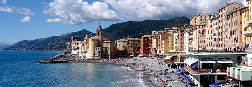 Beach, dans la province de Gênes, Ligurie