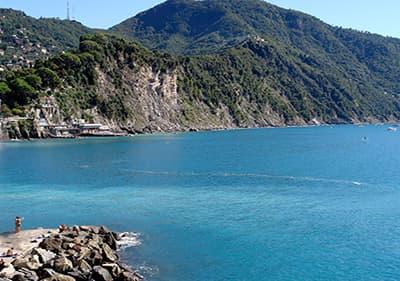 Une belle vue sur Camogli en Ligurie