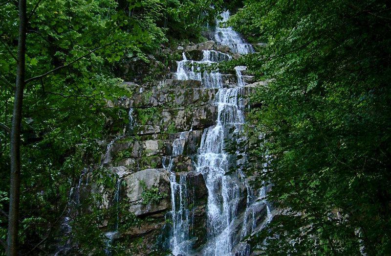 Cascate dell'Arroscia de Mendatica en Ligurie