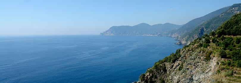 Vue de La Spezia en VTT Tour