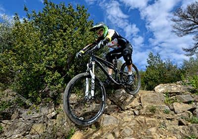 tours de vélo de montagne dans la région de Ligurie, Italie
