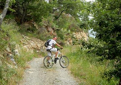 tour de vélo de montagne à Imperia Via Cresta, Ligurie