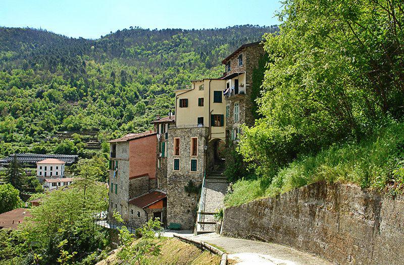 Une vue d'un village pittoresque appelé Pigna