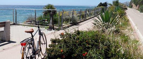 piste cyclable en Ligurie