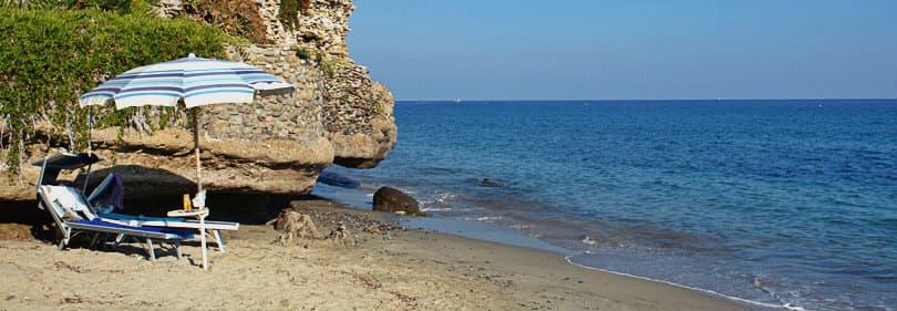 Beach à Bussana, Ligurie