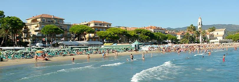Plage à Diano Marina, Ligurie