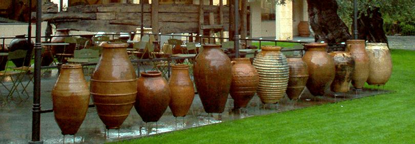 Vases en Museo dell'Olivo Imperia