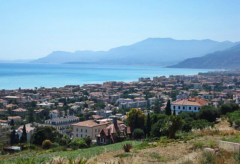 Une belle vue panoramique de Bordighera
