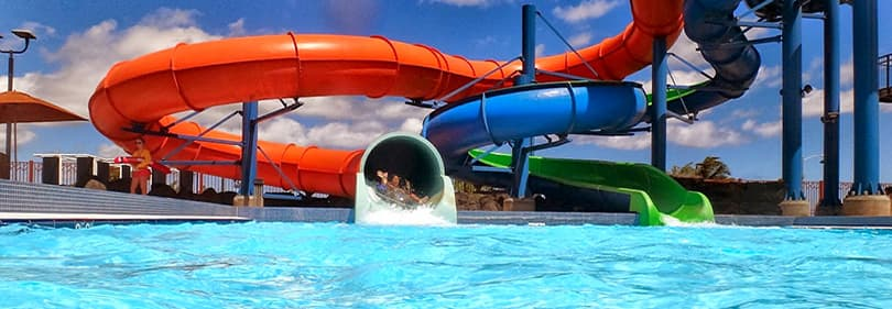 Parc aquatique en Ligurie, Italie